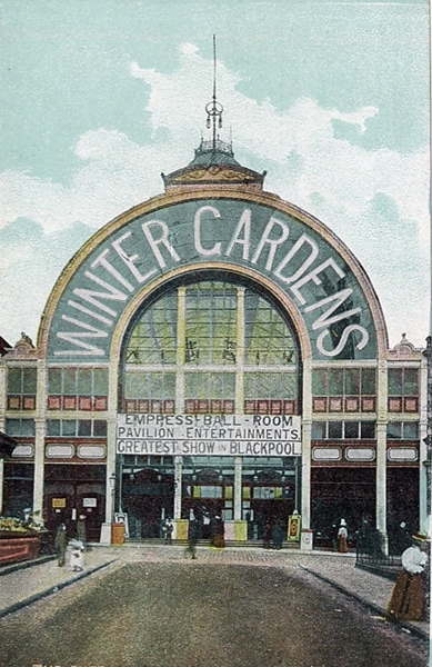 Winter Gardens Entrance Victoria Street, Blackpool c1904.