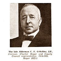 Charles F. Critchley, Mayor of Lytham St.Annes 1922-1925.