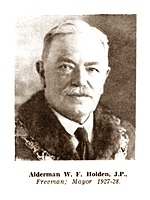W. F. Holden, Mayor of Lytham St.Annes 1927-1928.