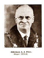 A. J. Price, Mayor of Lytham St.Annes 1929-1930.