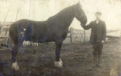 Unknown member of the Braithwaite family of Marton, Blackpool c1909.