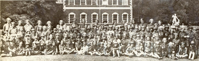 Brownies at a sports day in the grounds of Lytham Hall in the 1930s.