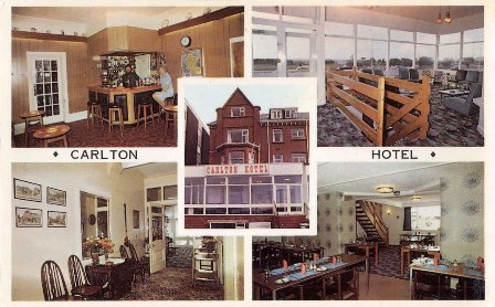 Postcard of the Carlton Hotel, St.Annes c1980.