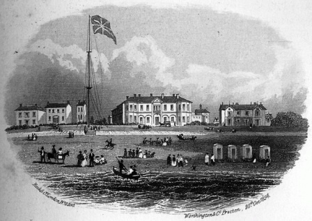 Clifton Arms Hotel, Lytham, in the 1850s