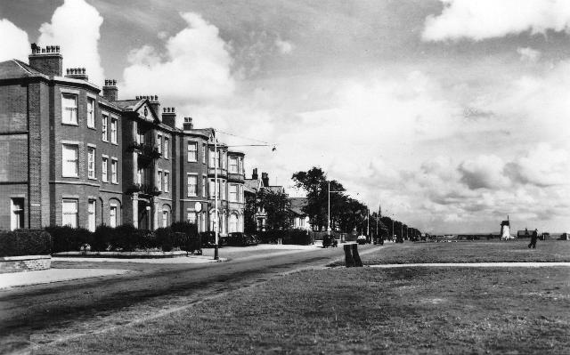 The Clifton Arms Hotel and Lytham Green in the 1950s.