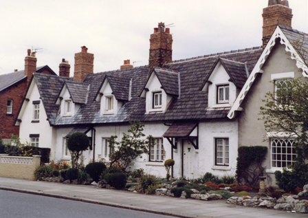The White Cottages, Church Road, St.Annes in the early 1980s.