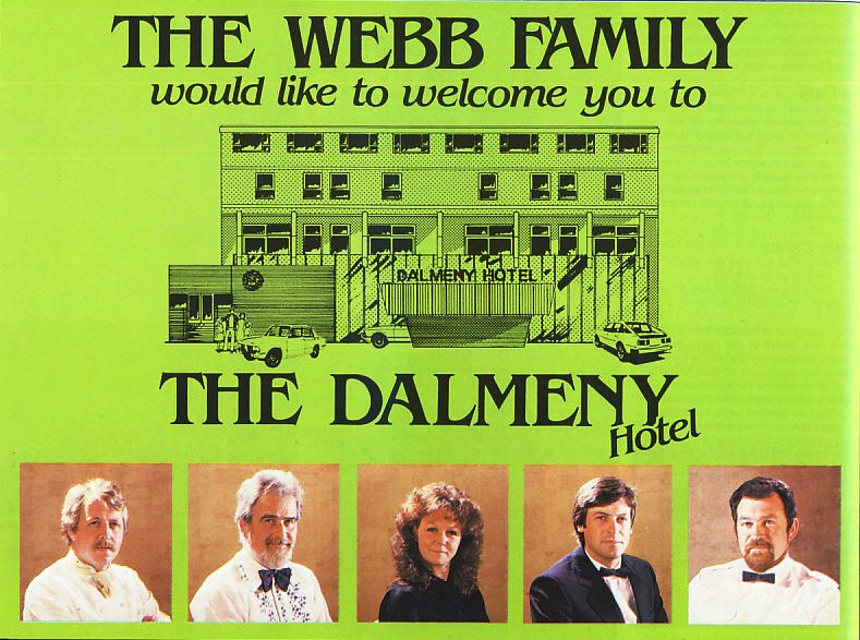 Advert for the Dalmeny Hotel, South Promenade, St.Annes-on-the-Sea, 1983.
