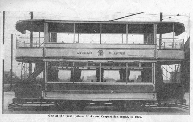 One of the first Lytham St.Annes Corporation Trams, in 1922.