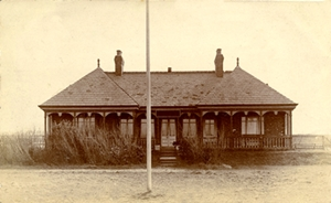 The Clubhouse, Fairhaven Golf Club, when the links were alongside Fairhaven Lake.