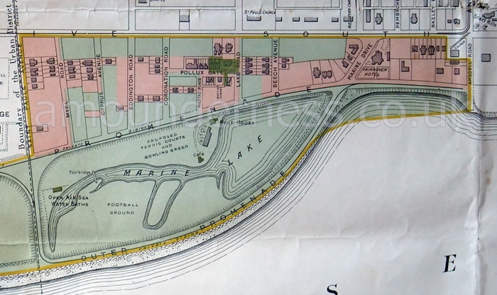 A plan of Fairhaven Lake in 1909