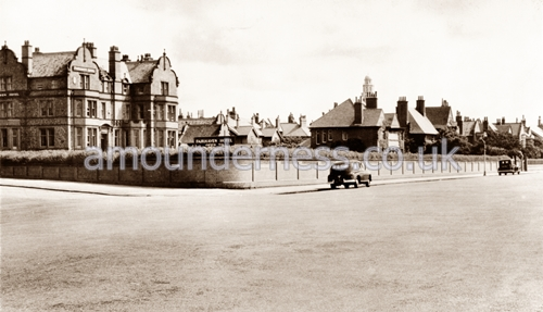 The Fairhaven Hotel viewed from the Promenade in the 1950s.