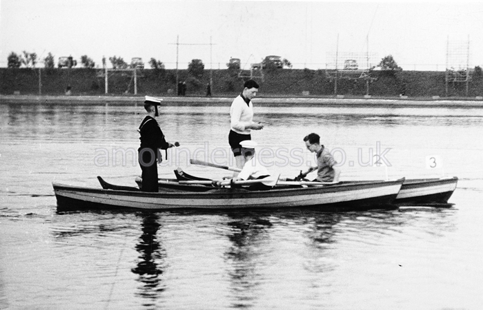 Egg and Spoon Race at Fairhaven Lake Regatta in 1953