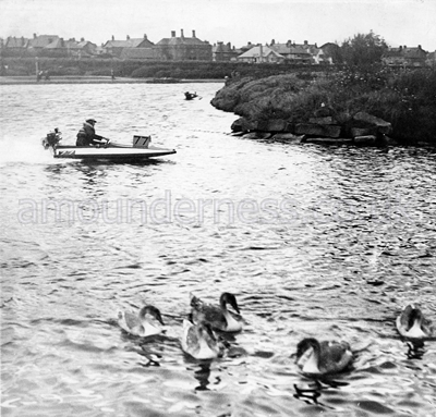 Hydroplanes at Fairhaven Lake in 1954