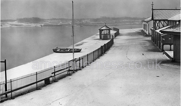 Winter at Fairhaven Lake,January, 1955.