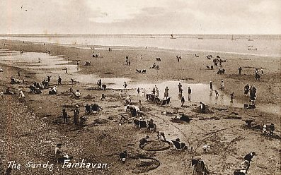 The Beach at Fairhaven c1918.