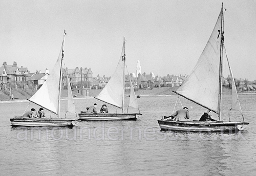 Fairhaven Sailing Club, Fairhaven Lake in the 1950s.