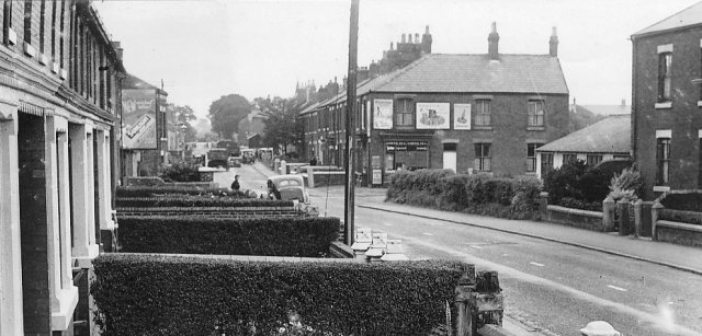 Photo of Lytham Road, Freckleton, in the 1950s.