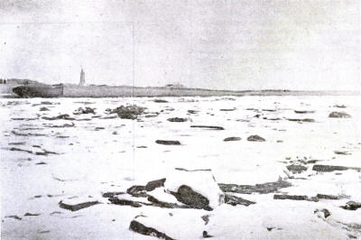 St.Annes Beach 1895, looking towards Fairhaven; the lighthouse and