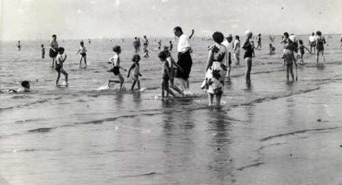 Paddling at St.Annes, August 1955