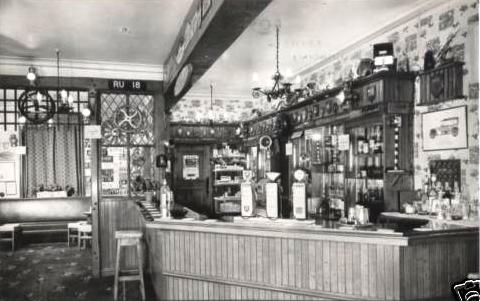 Photo of the bar, the Derby Arms, Inskip c1965.