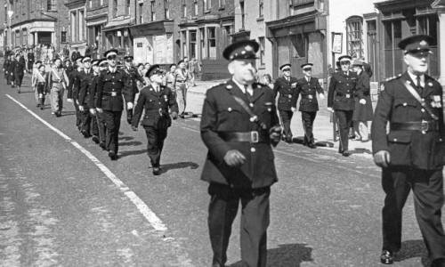 The St.John's Ambulance Brigade, Civic Sunday Procession, Kirkham , June 1951.