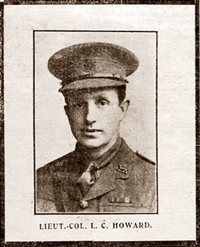 Lieut. L C Howard of Lytham, 1915.