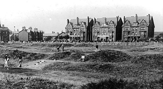 The Lindum Hotel viewed from the miniature Golf Links in the 1930s.