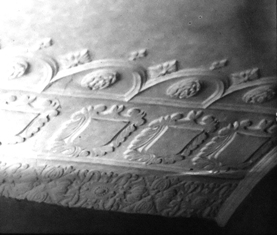 The ceiling, Kenyon Peel Hall, Little Hulton, Lancashire, taken in the 1930s or1950s.