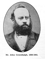John Greenhalgh, Chairman of St.Annes Local Board of Health (1880-1885).