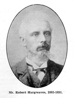 Robert Hargreaves, Chairman of St.Annes Local Board of Health (1885-1891).