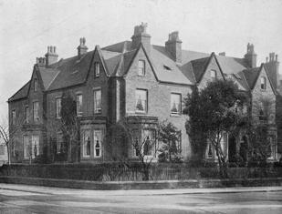 "Lonsdale House, acquired by Lowther College in 1918 (left) and the adjoining Lowood House (right), previously known as ""the Hostel."