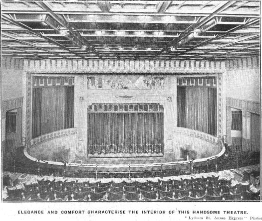 Interior view of the Palace Cinema, Clifton Street, Lytham, 1930.