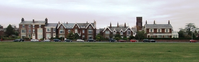 Georgian and Victorian houses fronting Lytham Green.
