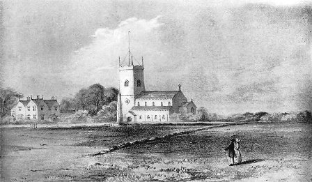 Lytham Church & Parsonage in the 1830s