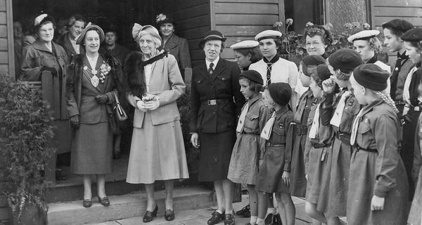 Photograph of Girl Guides, Lytham c1954.