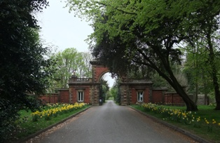 Entrance to Lytham Hall from Ballam Road.