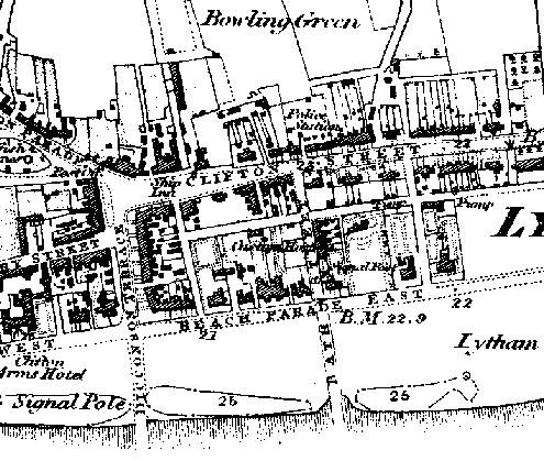Ordnance Survey Map of Lytham, circa 1846