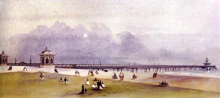 Architects drawing of the proposed pier at Lytham, 1863.