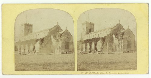An 1850s Ogle and Edge stereoview of St.Cuthbert's Church, Lytham.