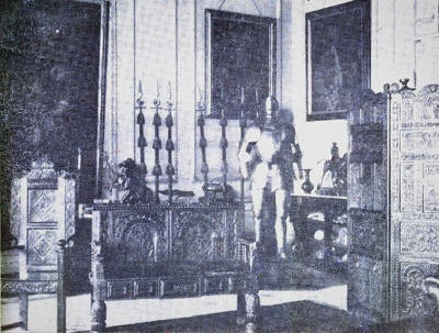The Bronze Room, Lytham Hall, in the 1920s.