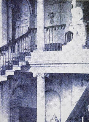 The Main Staircase, Lytham Hall, in the 1920s.