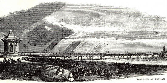 The new pier at Lytham, 1865