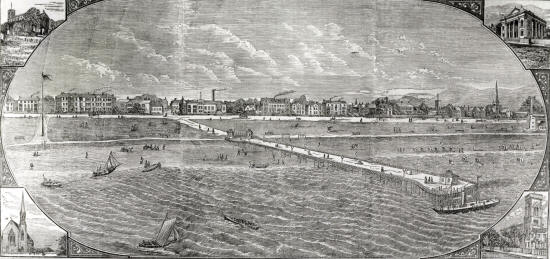 Lytham Pier in the 1880s
