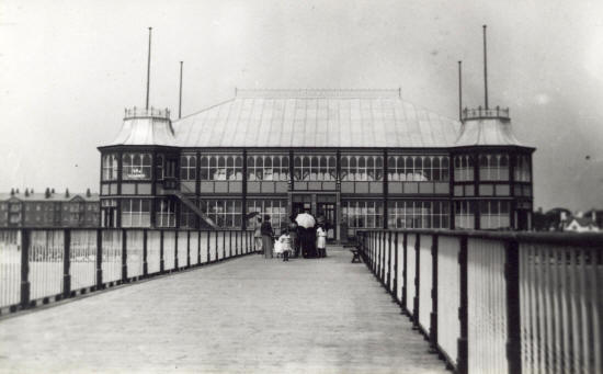 Lytham Pier Pavilion, erected halfway along the deck and opened in 1892