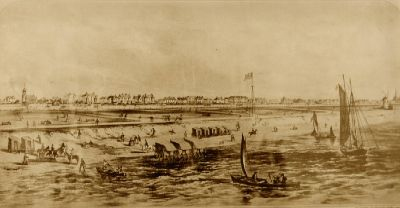The seafront at Lytham before the erection of the pier.