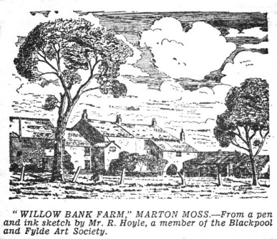 Willow Bank Farm, Marton Moss, Blackpool, 1953