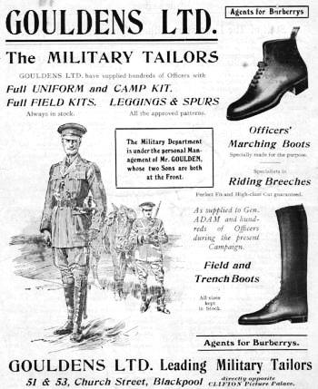 Military Tailors, Church Street, Blackpool, 1916.