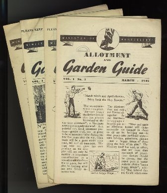 Miinistry of Agriculture Allotment and Garden Guides, 1945