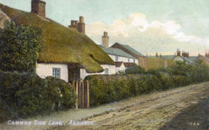 Cottages on Commonside (Worsley Road, Ansdell) c1905