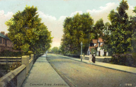 Commonside with Church Farm to the right c1905